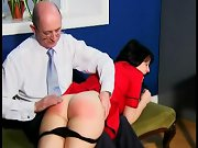 Spanked pussy, spanked with a paddle