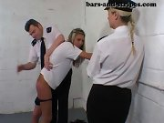 Spanked girls, being spanked with the paddle