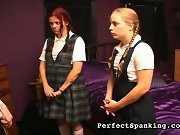 Perfect Spanking:  -  two catholic schoolgirls, a nun, and a priest.