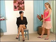 Hot brit mother spanks her child and then pulls her panties off and beats her black and blue