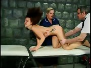 Free spanked slaves video, a quick spank