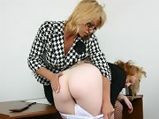 Teacher gives the most severe spanking of little girls life