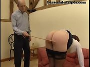 Spank bottom, spanked on her pants