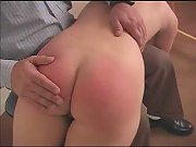 Naughty girls getting spanked, spanked in a strange place