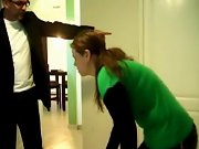 Spanked and abused teens, spanked bare by mom