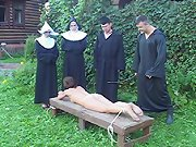 Young convent girl tied down and caned on her bare bottom - real tears