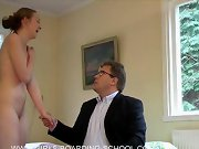 Girls spanked in office, wife spanked with switch