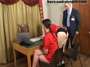 Spanked over his knee, spanked in underwear