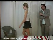 A quick spank, wife spanked with switch